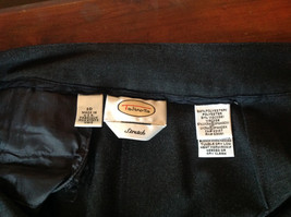 Black Talbots Stretch Pants Size 10 Zipper and Button Closure One Back Pocket image 6