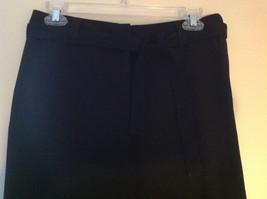 Black Tie Belt Casual Pants Zipper Button 2 Clasp Closure Geoffrey Been Size 4S image 2