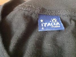 Black Venezia Italia T Shirt 100 Percent Cotton Made in Italy Soft NO TAG image 4
