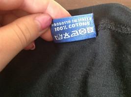 Black Venezia Italia T Shirt 100 Percent Cotton Made in Italy Soft NO TAG image 5