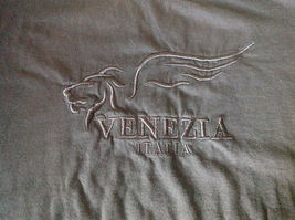 Black Venezia Italia T Shirt 100 Percent Cotton Made in Italy Soft NO TAG image 3