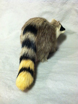 Black White Faced Raccoon Animal Figurine - recycled rabbit fur image 6
