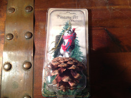 Black White Cat with Scarf Real Pine Cone Pet Pine Cone Christmas Ornament image 4