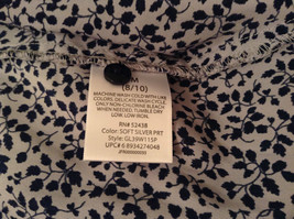 Black White Leaves Pattern Ruffled Front Button Up Blouse Size M 8 to 10 George image 9