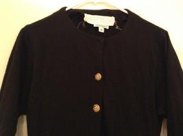Black  Winter Dress Long Sleeves Sketches Christine Jaguin Ruffled Bottom Size 6 image 3