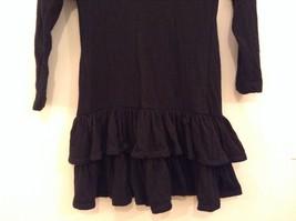 Black  Winter Dress Long Sleeves Sketches Christine Jaguin Ruffled Bottom Size 6 image 6