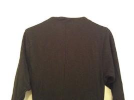 Black  Winter Dress Long Sleeves Sketches Christine Jaguin Ruffled Bottom Size 6 image 5