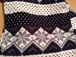 Black White Nordic Style Infinity Snowflakes holiday winter scarf image 2