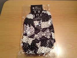 Black White Nordic Style Infinity Snowflakes holiday winter scarf image 6