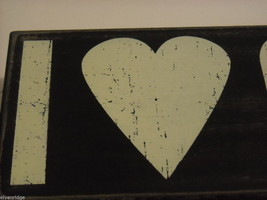 """Black Wooden Box Sign """"I [Heart] Love Coffee"""" Saying image 2"""