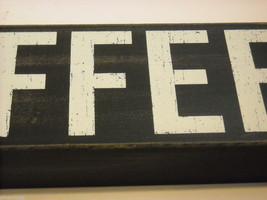 """Black Wooden Box Sign """"I [Heart] Love Coffee"""" Saying image 4"""