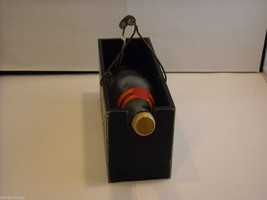 """Black Wooden Box Wine Caddy """"Drinking the Finest Wines Creates..."""" Saying image 5"""