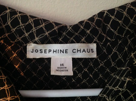 Black and Gold Button Down V Neckline Vest by Josephine Chaus Size 14 image 2