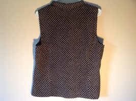 Black and Gold Button Down V Neckline Vest by Josephine Chaus Size 14 image 4