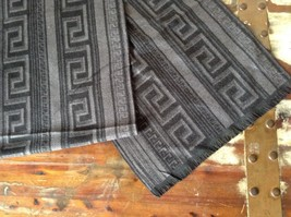 Black and Gray Pattern European Scarf by Mad About Style 100 Percent Viscose image 2