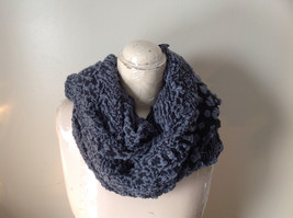 Black and Gray Boho Style Scarf with Dots image 5