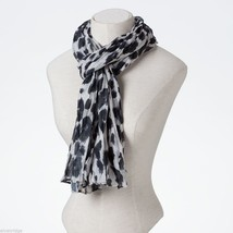 Black and White Leopard Scarf image 2
