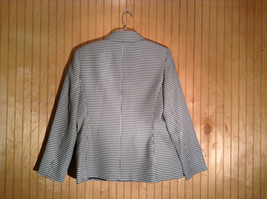 Black and White Houndstooth Button Up Blazer by Kasper Size 12 Padded Shoulders image 4