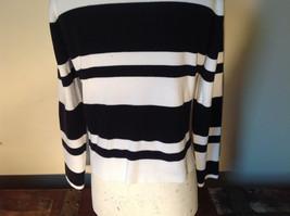 Black and White Striped Long Sleeve Turtleneck Sweater Worthington Size XL image 7