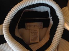 Black and White Striped Long Sleeve Turtleneck Sweater Worthington Size XL image 9