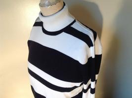 Black and White Striped Long Sleeve Turtleneck Sweater Worthington Size XL image 8
