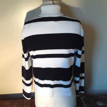 Black and White Striped Long Sleeve Turtleneck Sweater Worthington Size XL image 5