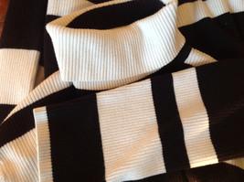 Black and White Striped Long Sleeve Turtleneck Sweater Worthington Size XL image 10