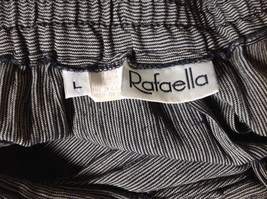 Black and White Skinny Striped Button Up Flowing Skirt by Rafaella Size Large image 8
