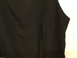 Black dress Crew Neck Sleeveless Tank Top Blouse, No Size tag (see measures) image 2