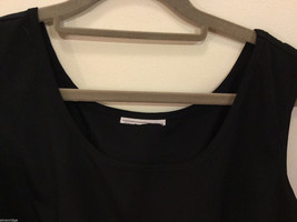 Black dress Crew Neck Sleeveless Tank Top Blouse, No Size tag (see measures) image 3