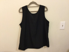 Black dress Crew Neck Sleeveless Tank Top Blouse, No Size tag (see measures) image 4