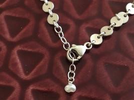 Black oxidized heart unique chain Necklace Zina Kao Pearl accent close USA made image 4