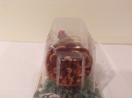 Black buffalo with scarf on pine cone Christmas winter holiday ornament  NIB image 4