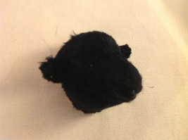 Black sheep  furry refrigerator magnet in 3D image 2