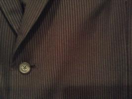 Black with Light Stripes Steffano Barneys New York Suit Jacket Blazer No Tag image 3