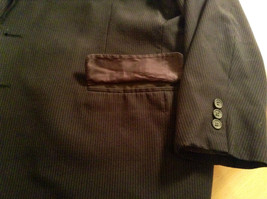 Black with Light Stripes Steffano Barneys New York Suit Jacket Blazer No Tag image 9