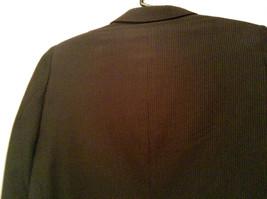 Black with Light Stripes Steffano Barneys New York Suit Jacket Blazer No Tag image 6