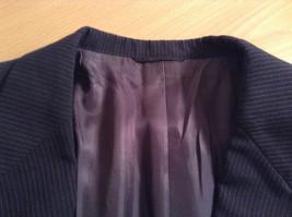 Black with Light Stripes Steffano Barneys New York Suit Jacket Blazer No Tag image 7