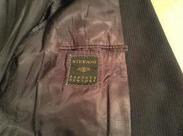 Black with Light Stripes Steffano Barneys New York Suit Jacket Blazer No Tag image 8