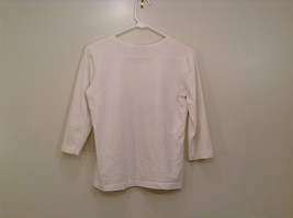 Blanca White Top Decoration on Front Scoop Neck No Tag Measurements Below image 2