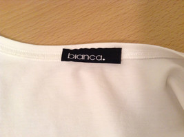 Blanca White Top Decoration on Front Scoop Neck No Tag Measurements Below image 9