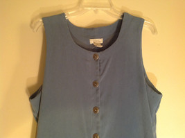 Blue Christopher and Banks  Sleeveless Dress Made in Indonesia Size 12 image 2