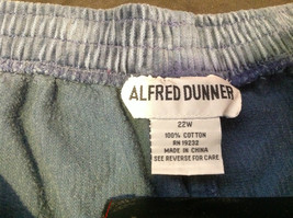 Blue Corduroy Alfred Dunner Ladies Pants Size 22W image 2
