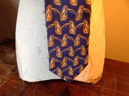 Blue Gold Fierte SRL Silk Tie Made in Italy Length 60 Inches image 2