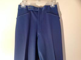 Blue Four Pocket Graham and Gunn LTD Dress Pants Zip Clasp Button Closure image 2