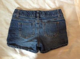 Blue Jean Shorts by SO Front and Back Pockets Zipper and Button Closure Size 12 image 4