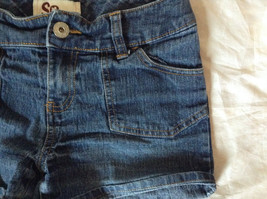 Blue Jean Shorts by SO Front and Back Pockets Zipper and Button Closure Size 12 image 3
