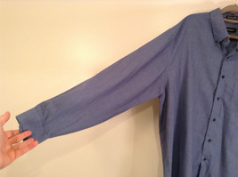 Blue Plaid Long Sleeve Van Hensen Wrinkle Free Stain Shield Shirt Size XL image 3