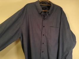 Blue Plaid Long Sleeve Van Hensen Wrinkle Free Stain Shield Shirt Size XL image 4