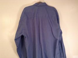 Blue Plaid Long Sleeve Van Hensen Wrinkle Free Stain Shield Shirt Size XL image 7